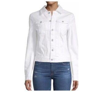 AG Mya Denim Jacket White